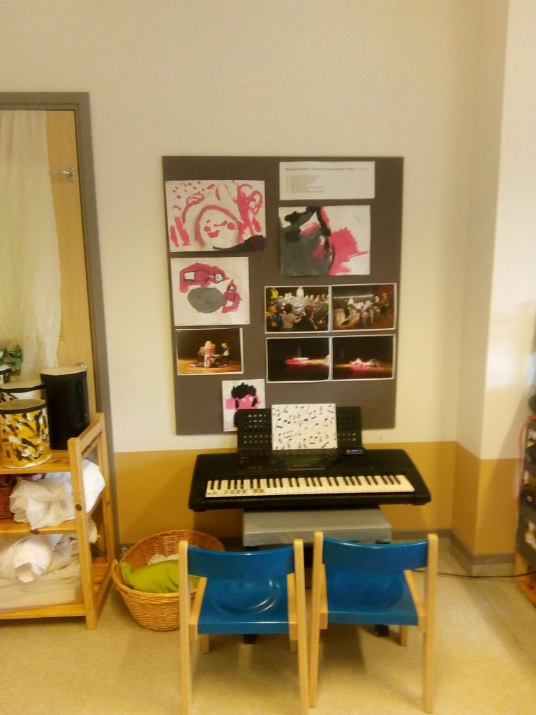 Environmental Education at its Best - A Visit to a Swedish Preschool in Stockholm - music corner
