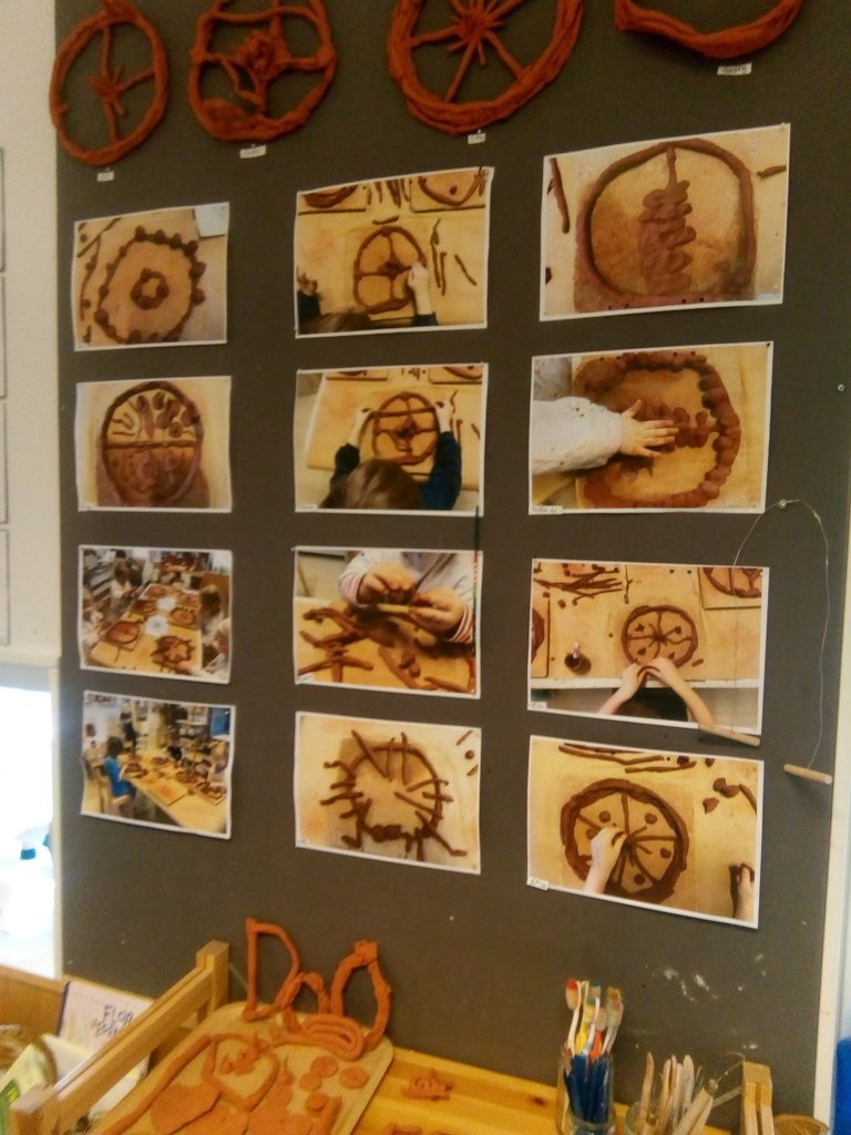 Environmental Education at its Best - A Visit to a Swedish Preschool in Stockholm - clay craft process photos