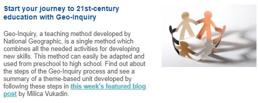Geo inquiry - 21st century skills British Council