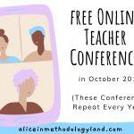 Online Teacher Conferences in October 2019