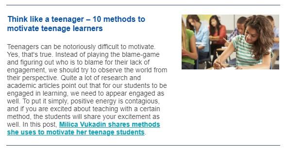 10 methods to motivate teenage learners