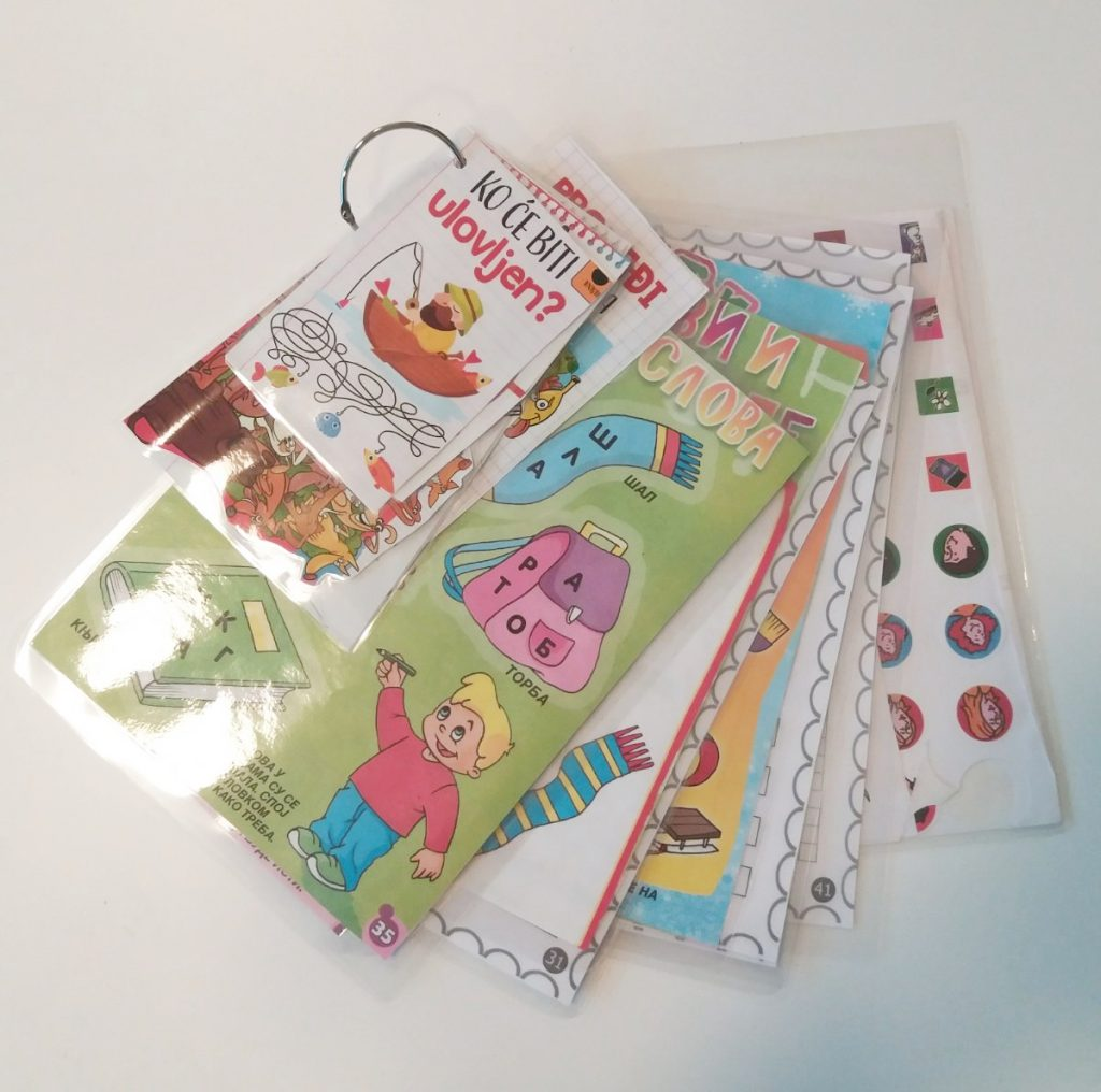low-waste, laminated flashcards, do it yourself sustainable classroom