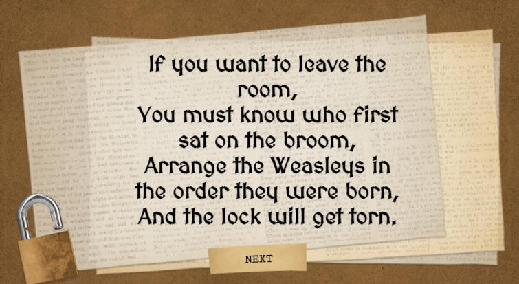 harry potter escape room potion