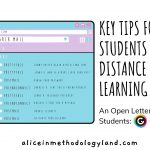 An Open Letter to All Students: Key Tips for Students in the Distance Learning Process