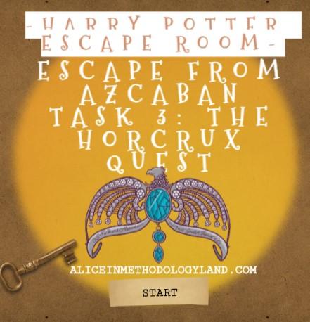 Harry Potter Escape Room Professional Development for Teachers – ROOM 3 – The Horcrux Quest