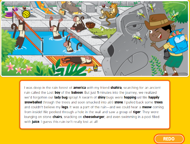 Funny fill-in at National Geographic Kids: Jungle style