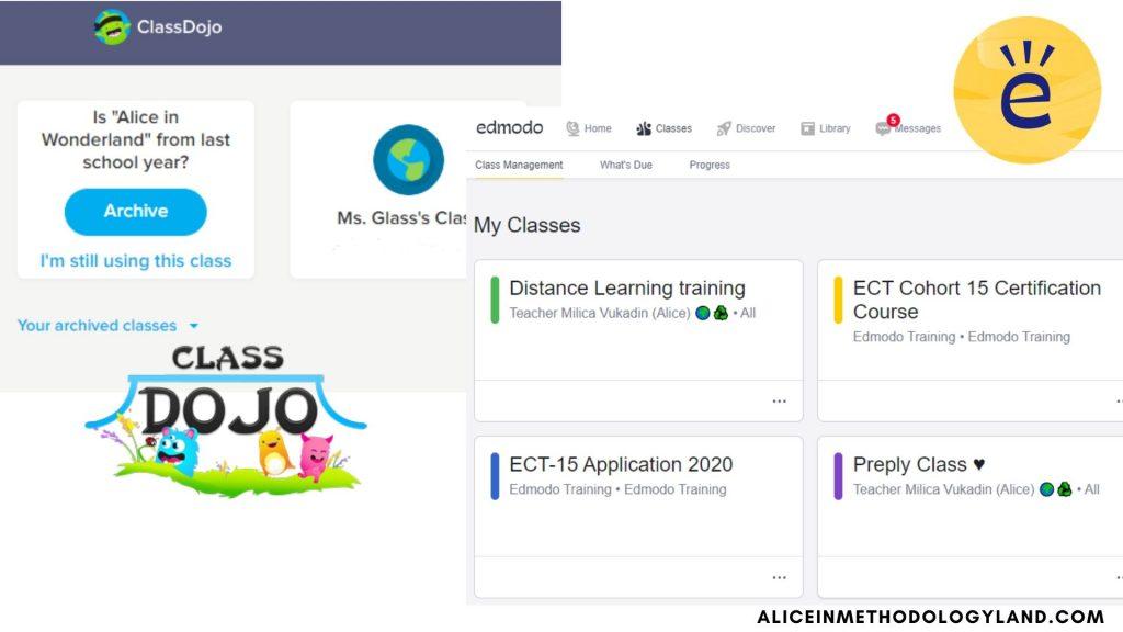 classroom on Edmodo or Class Dojo. training