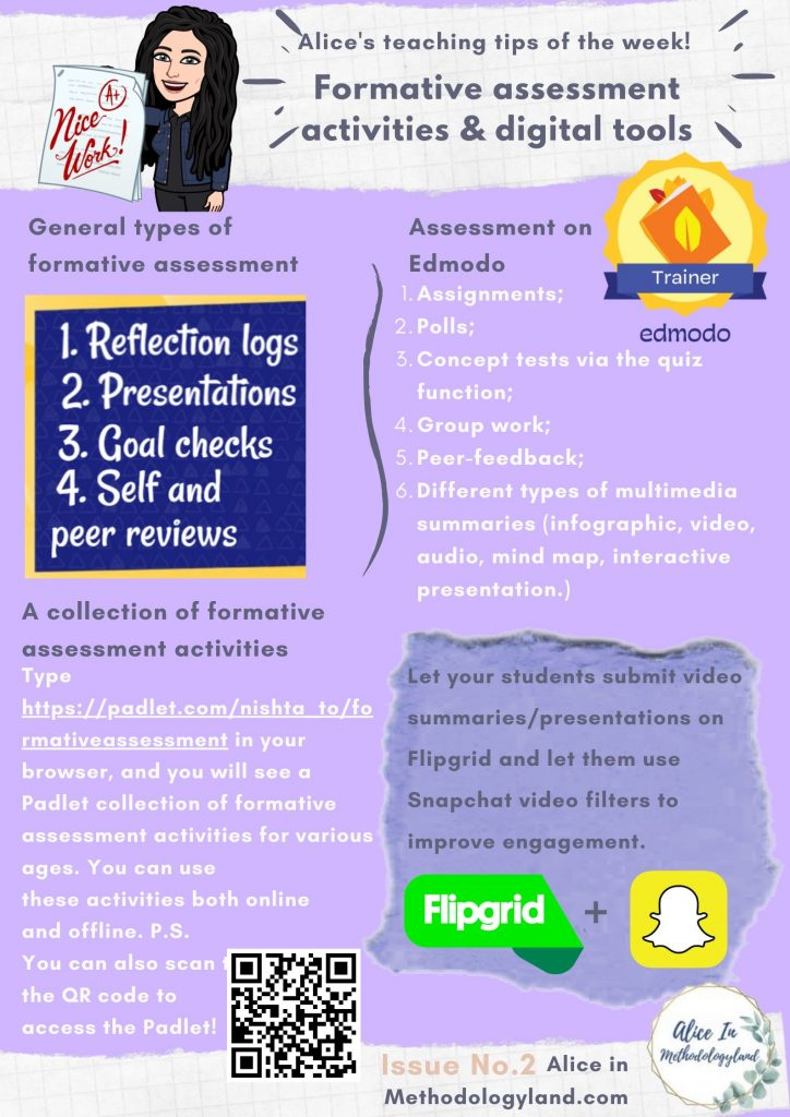 formative assessment activities and digital tools