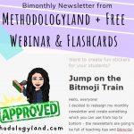 Bimonthly Newsletter from Methodologyland + Free Webinar & Flashcards