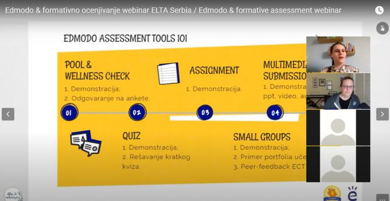 Edmodo & Formative Assessment webinar - ELTA Serbia