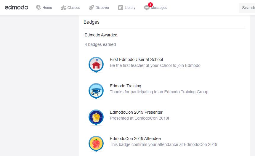 classroom on Edmodo or Class Dojo. digital badges
