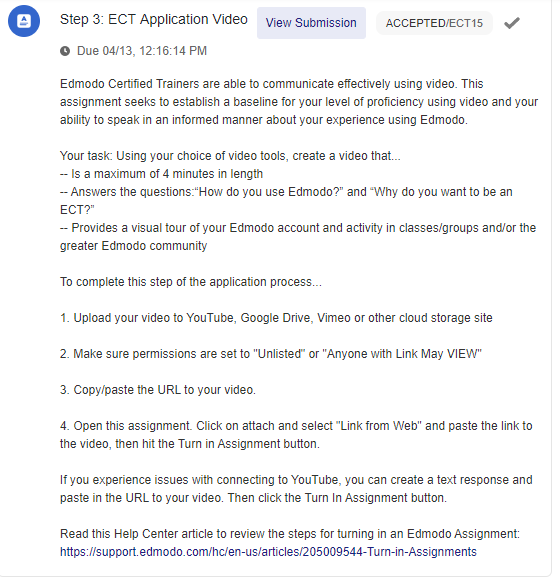 ECT - What are the Steps to Becoming an Edmodo Certified Trainer?