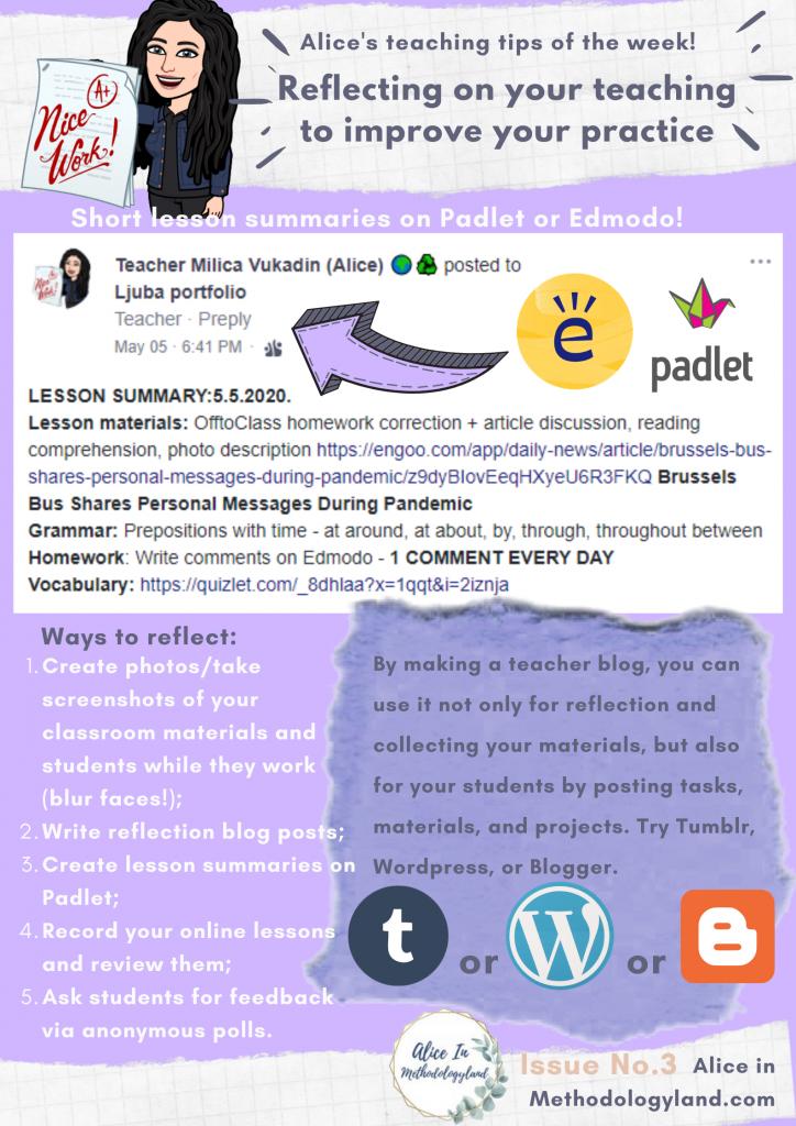 teacher reflection tips: How to be a reflective teacher?