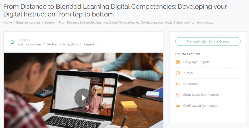 distance blended learning teacher training