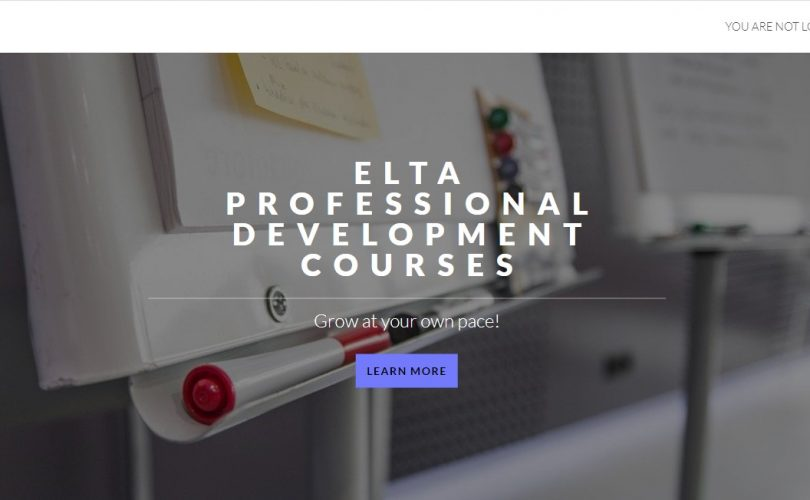 Moodle website for English Language Teachers' Association in Serbia