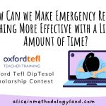 👉 How Can We Make Emergency Remote Teaching More Effective with a Limited Amount of Time?