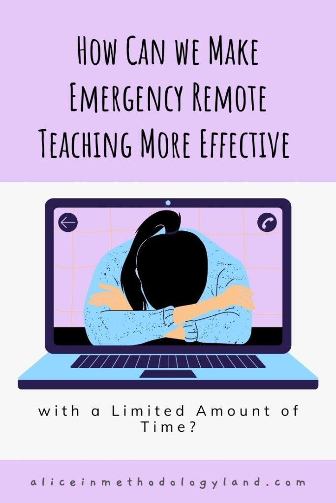 How Can We Make Emergency Remote Teaching More Effective with a Limited Amount of Time? tips video networking LMS interactivity