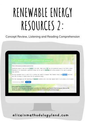 Renewable Energy Resource CLIL Unit (3 lessons + 1 project, 10+ activities)
